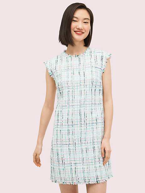 pastel tweed shift dress by kate spade new york