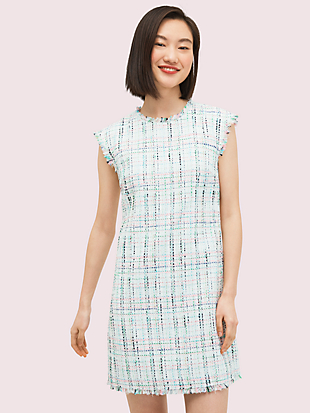 pastel tweed shift dress by kate spade new york non-hover view