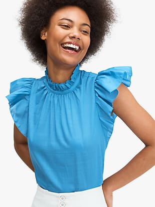 solid high-neck top by kate spade new york non-hover view
