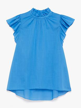 solid high-neck top by kate spade new york hover view