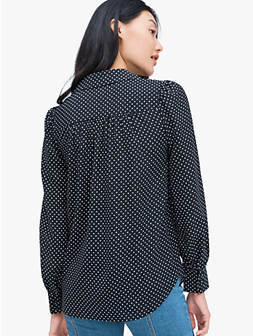 dainty dot silk blouse, , rr_productgrid