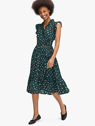 blackberry ruffle wrap dress by kate spade new york non-hover view