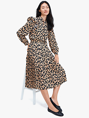 forest feline midi skirt by kate spade new york hover view
