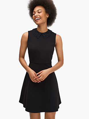 lace collar ponte dress by kate spade new york non-hover view