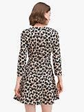 forest feline jacquard dress, , s7productThumbnail