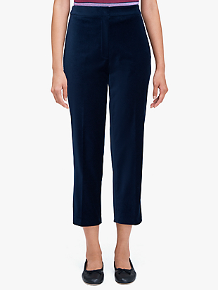 luxe velvet cigarette pant by kate spade new york non-hover view