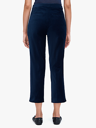 luxe velvet cigarette pant by kate spade new york hover view