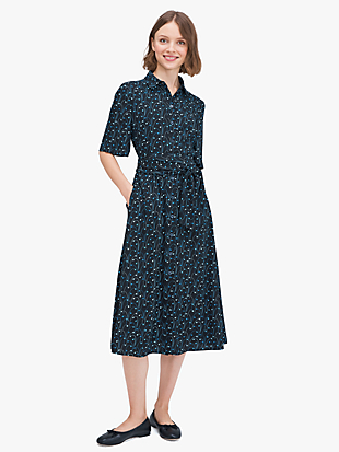 star floral smocked-back shirtdress by kate spade new york non-hover view