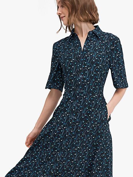 Star floral smocked-back shirtdress | Kate Spade New York
