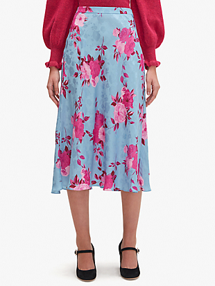 regal rose jacquard skirt by kate spade new york non-hover view