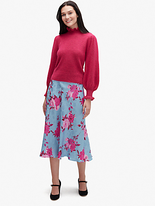 regal rose jacquard skirt by kate spade new york hover view