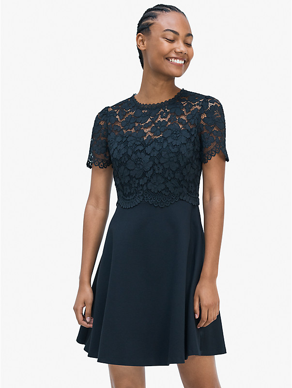 rose lace-bodice ponte dress, , rr_large