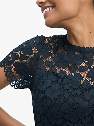 rose lace-bodice ponte dress by kate spade new york hover view