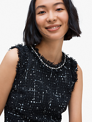 embellished tweed dress by kate spade new york hover view