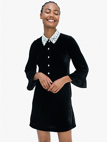jewel-button velvet shirtdress, , rr_productgrid