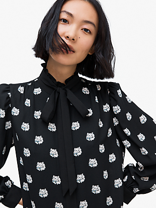 cat dot shirtdress by kate spade new york hover view