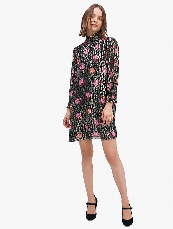 rose garden smocked shift dress, , rr_large