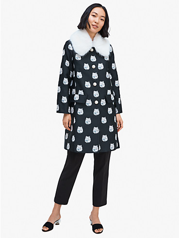 cat dot jacquard coat, , rr_productgrid