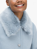 jewel-button metallic twill coat, , s7productThumbnail
