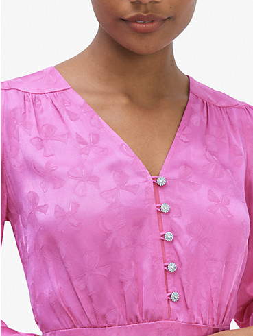 Kleid aus Jacquard mit Schmucksteinknöpfen, , rr_productgrid