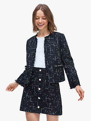 embellished tweed jacket by kate spade new york non-hover view