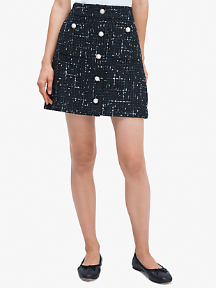 embellished tweed skirt by kate spade new york non-hover view