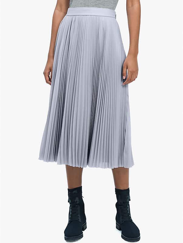 sparkle chiffon pleated skirt, , rr_large