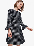 flounce sleeve ponte dress, , s7productThumbnail