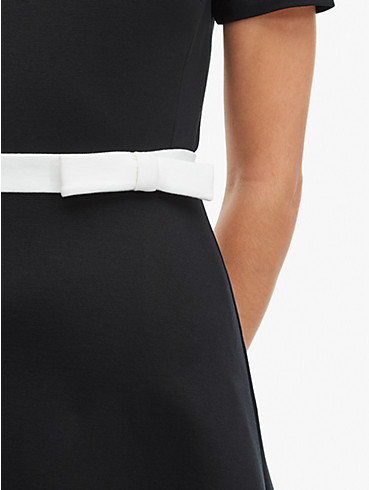 bow-waist ponte dress, , rr_productgrid