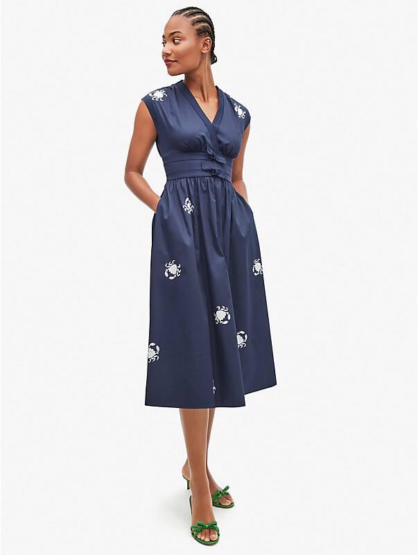 snappy poplin bow dress, , rr_large