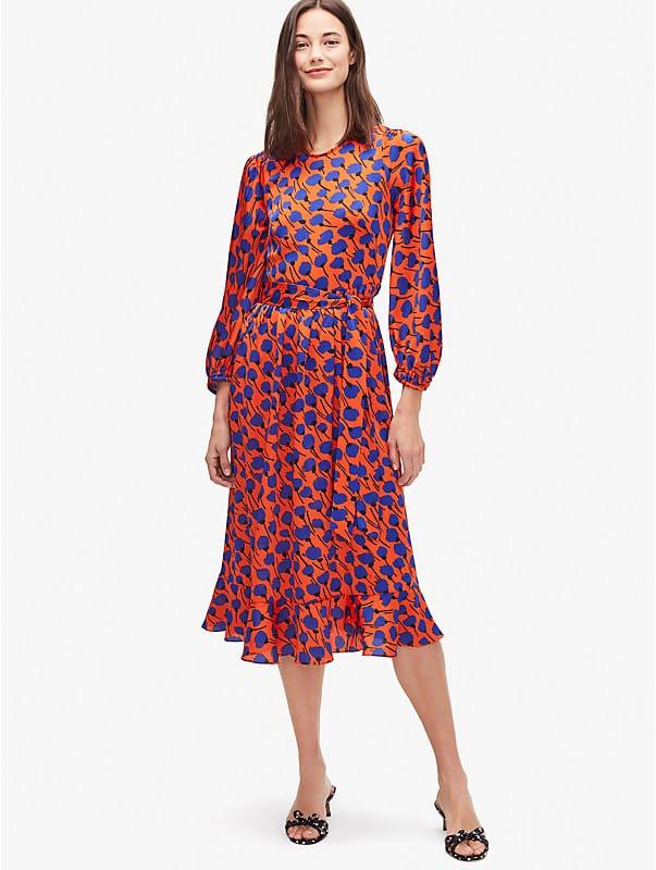 poetic floral smocked dress, , rr_large