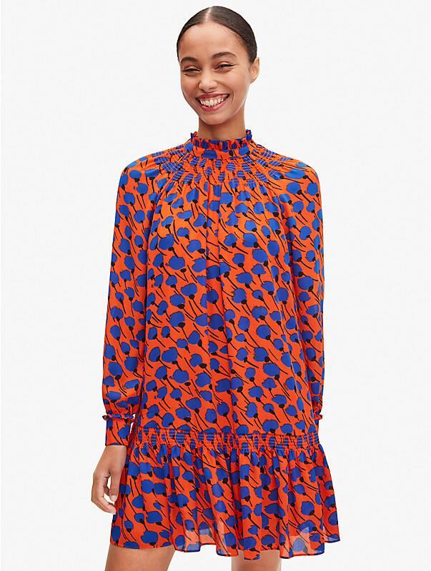 poetic floral shift dress, , rr_large