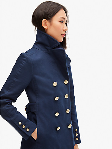 cotton classic double-breasted peacoat, , rr_productgrid