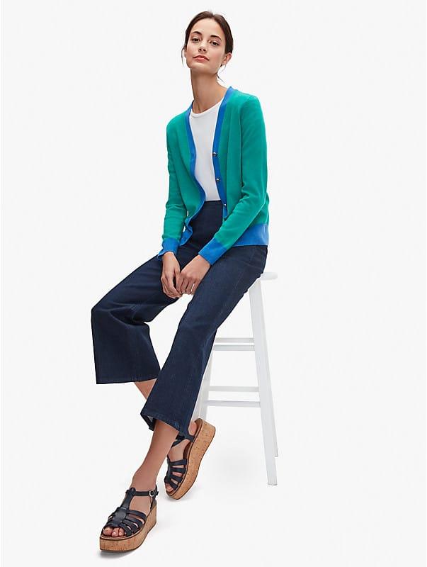 colorblock v-neck cardigan, , rr_large