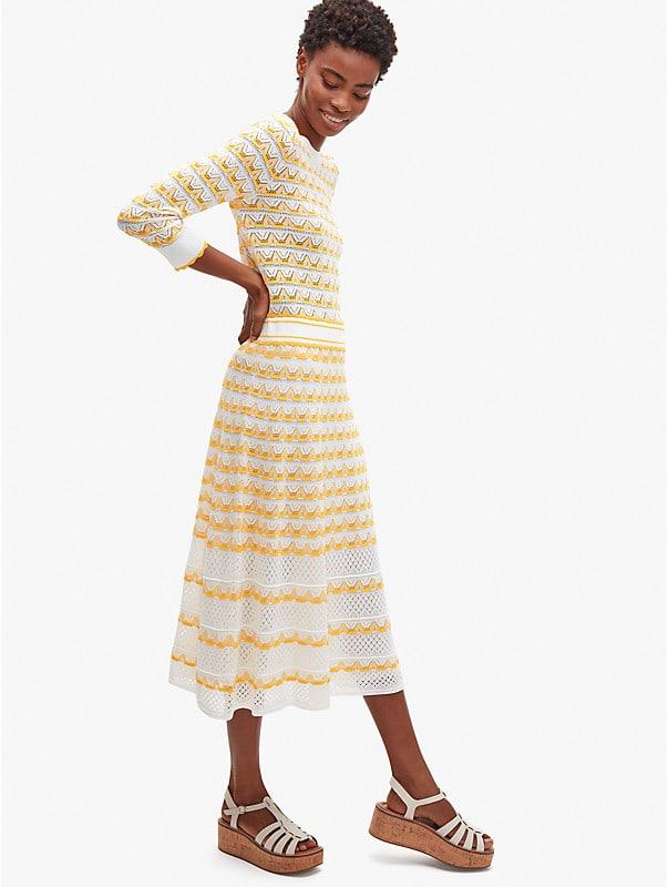 striped pointelle-knit skirt, , rr_large