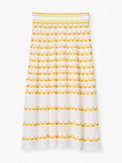 striped pointelle-knit skirt, , s7productThumbnail