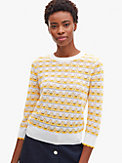striped pointelle sweater, , s7productThumbnail