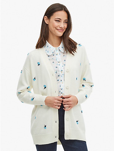 dainty bloom appliqué cardigan, , rr_productgrid