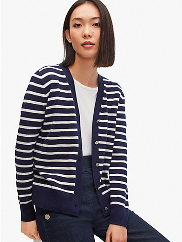 striped v-neck cardigan, , rr_productgrid