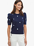 dainty bloom appliqué sweater, , s7productThumbnail