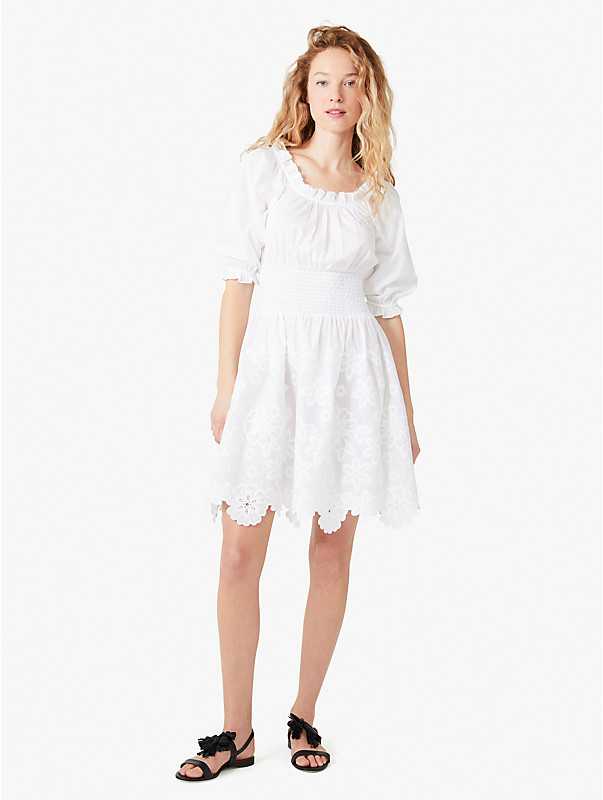 broderie anglaise smocked-waist dress, , rr_large