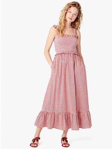mini gingham smocked-bodice dress, , rr_productgrid