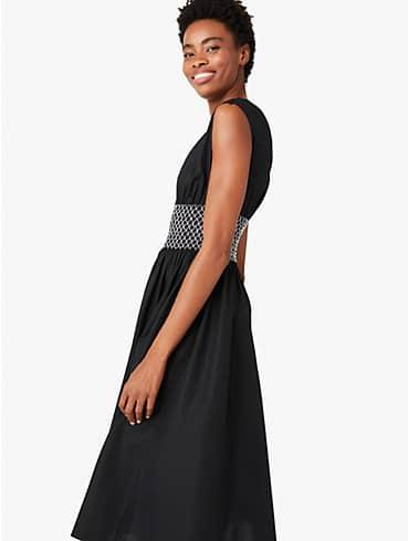 poplin v-neck dress, , rr_productgrid