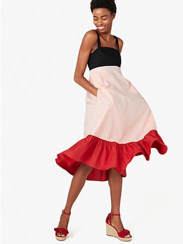 colorblock al fresco midi dress, , rr_productgrid