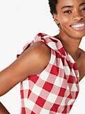 gingham one-shoulder dress, , s7productThumbnail