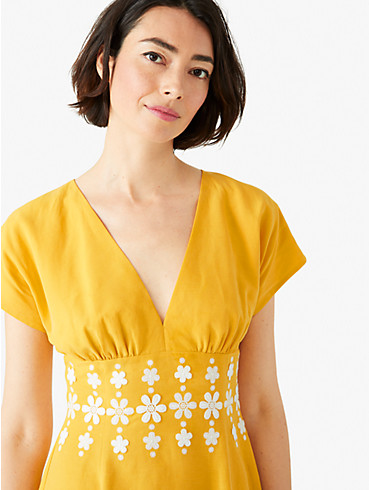 daisy embroidered fit-and-flare dress, , rr_productgrid