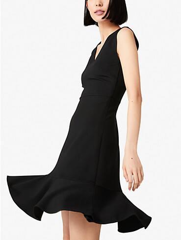 flounce hem ponte dress, , rr_productgrid