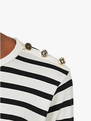 T-Shirt mit Streifen und Schulterknöpfen, , rr_productgrid