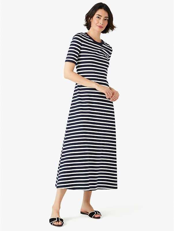 striped midi dress, , rr_large