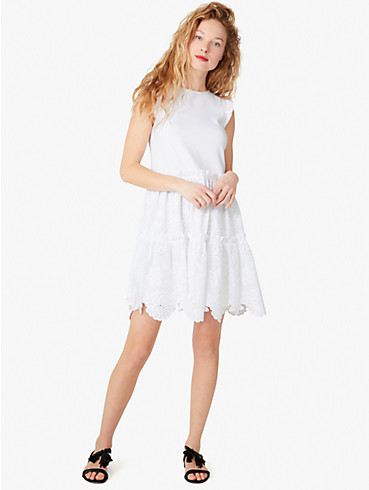 mixed-media broderie anglaise dress, , rr_productgrid